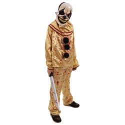 Clown avec couteau - animé, sonore et lumineux - 80 cm (piles incl.