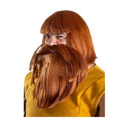 Chapeau sorcière adulte - tissu noir avec voile beige