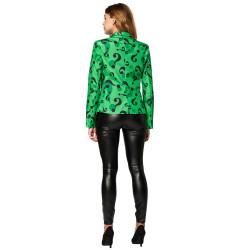 Masque adulte latex Masque adulte latex intégral clown sanglant avec cheveux et chapeau démon sans bouche