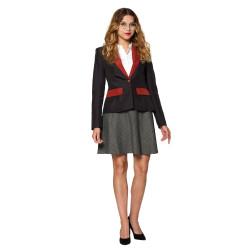 Masque adulte latex EVA clown fou avec cheveux et yeux lumineux