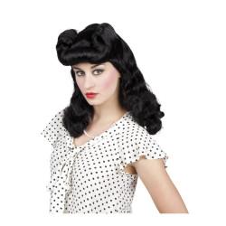 Chapeau haut de forme en feutre noir.