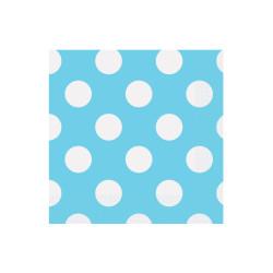 Vaisselle jetable, 20 serviettes en papier 33x33cm, divers coloris