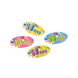 Sachet de 6 orchidées avec tiges, divers coloris