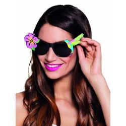 Perruque fluo longue rose fluo femme